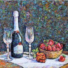 Шампанско и ягоди