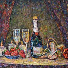 Натюрморт с шампанско