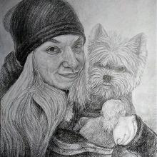 Момиче с куче