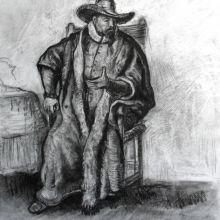 Седнал мъж