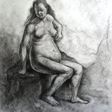 Гола жена