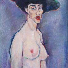 Гола жена с шапка
